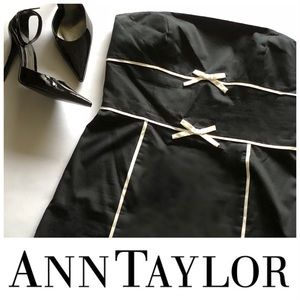 Ann Taylor Classy B & W Strapless Cocktail Dress